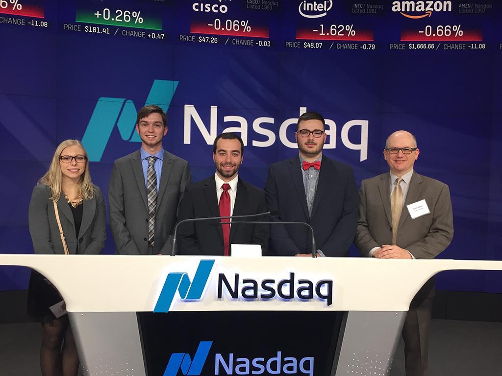 Keuka students open NASDAQ